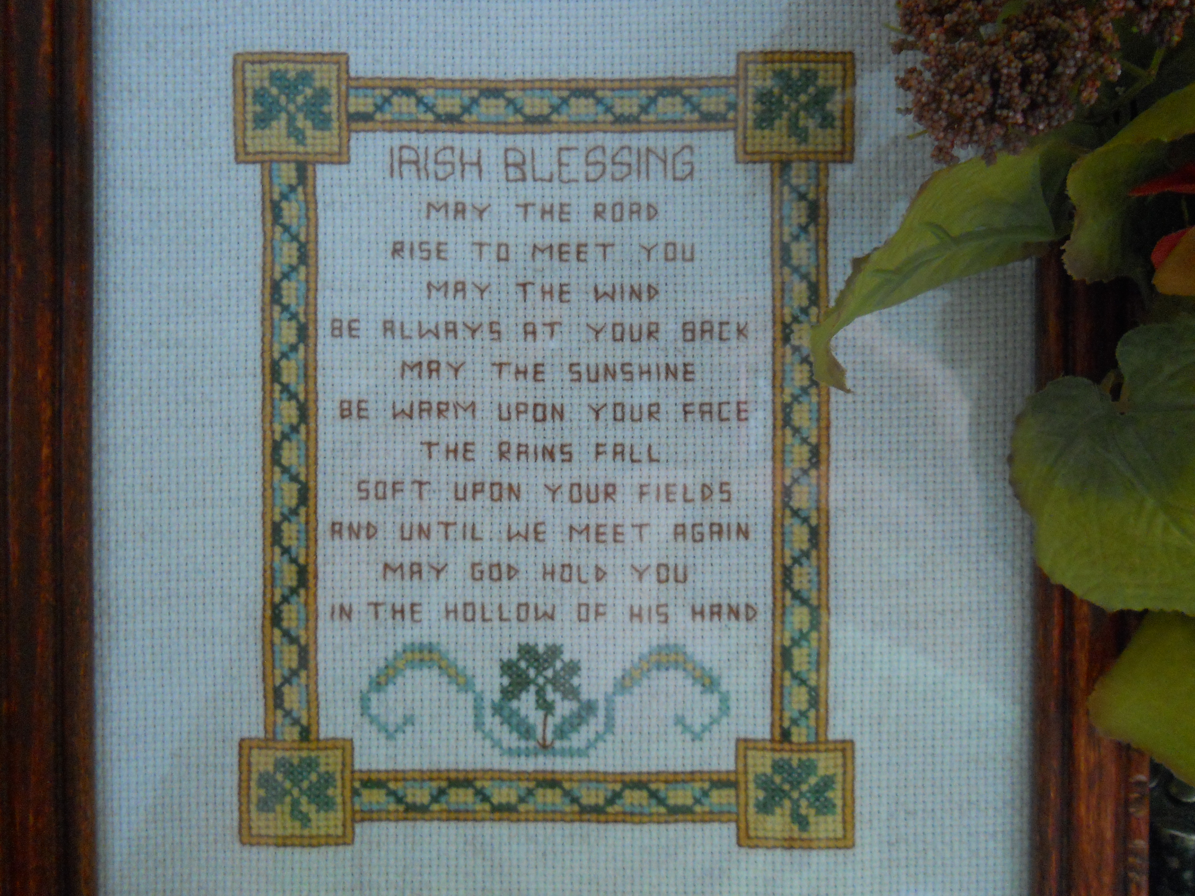 Irish Blessing Cross Stitch Pattern | Heart Toward Home